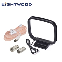 Eightwood дипольная fm антенна штекер PAL разъем и AM петля антенна 2 голый провод для Yamaha onyo Denon домашняя tereo приемник системы