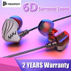 Newmsnr S2000/200 6D Surround Bass Wire Headphones IPX5 Waterproof Sweatproof Sport Headset Comfort Beat Drums In Ear Earphones