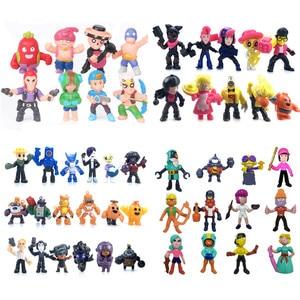Brawl Star Games Cartoon Hero Anime Figure Model Spike Shelly Leon Primo Mortis Dolls Boy Toys Kid BrawlStars Birthday Gift(China)