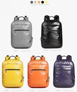 Image 2 - CAI 2019 PU Leather Female Backpack Bag for Women designer Zipper School Shoulder Bags Travel Sport back pack Girl Fashion