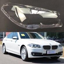 Lente de faro delantero de coche para BMW 5 Series F18 F10 520i 523i 525i 535i 530i 2011 ~ 2017, cubierta de carcasa de Auto