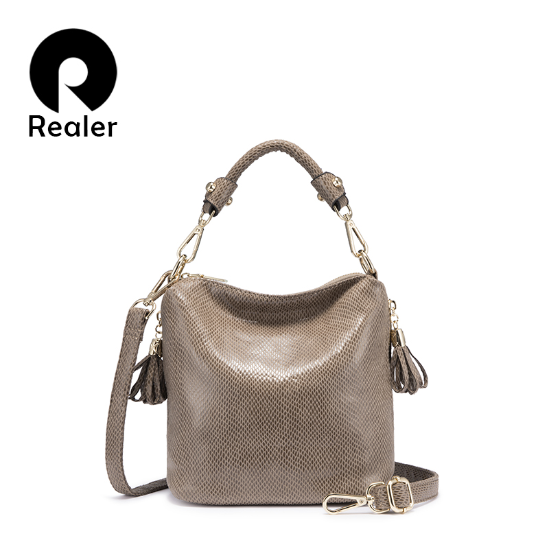 REALER Women Handbag With Top-handle Crossbody Bags For Women Gold Luxury Handbags Women Bags Designer Small Flap Female Totes