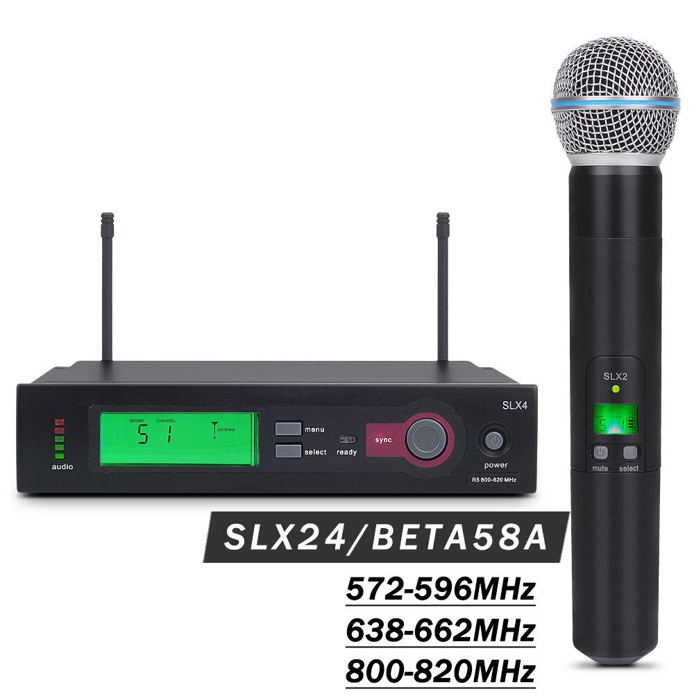 UHF Professional Super Cardioid SLX24 BETA58 Wireless Microphone Karaoke System SLX With Classic Handheld Transmitter Mic