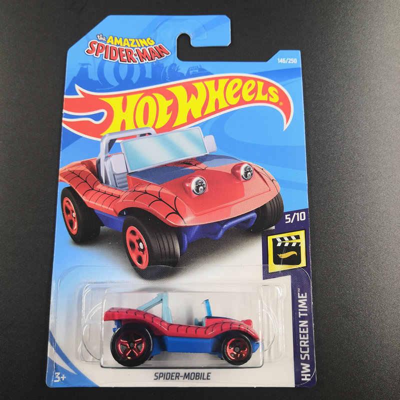 Hot Wheels 1: 64 Mobil 2019 NO.129-173 Volkswagen Chevy Spider-Mobile Metal Diecast Model Mobil Mainan Anak Hadiah