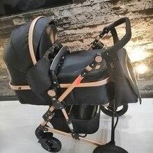 Luxmom Детская коляска 2 в 1 коляска двусторонний тележка регулируемый подлокотник Четыре сезона подходят для использования ускоренная достав...