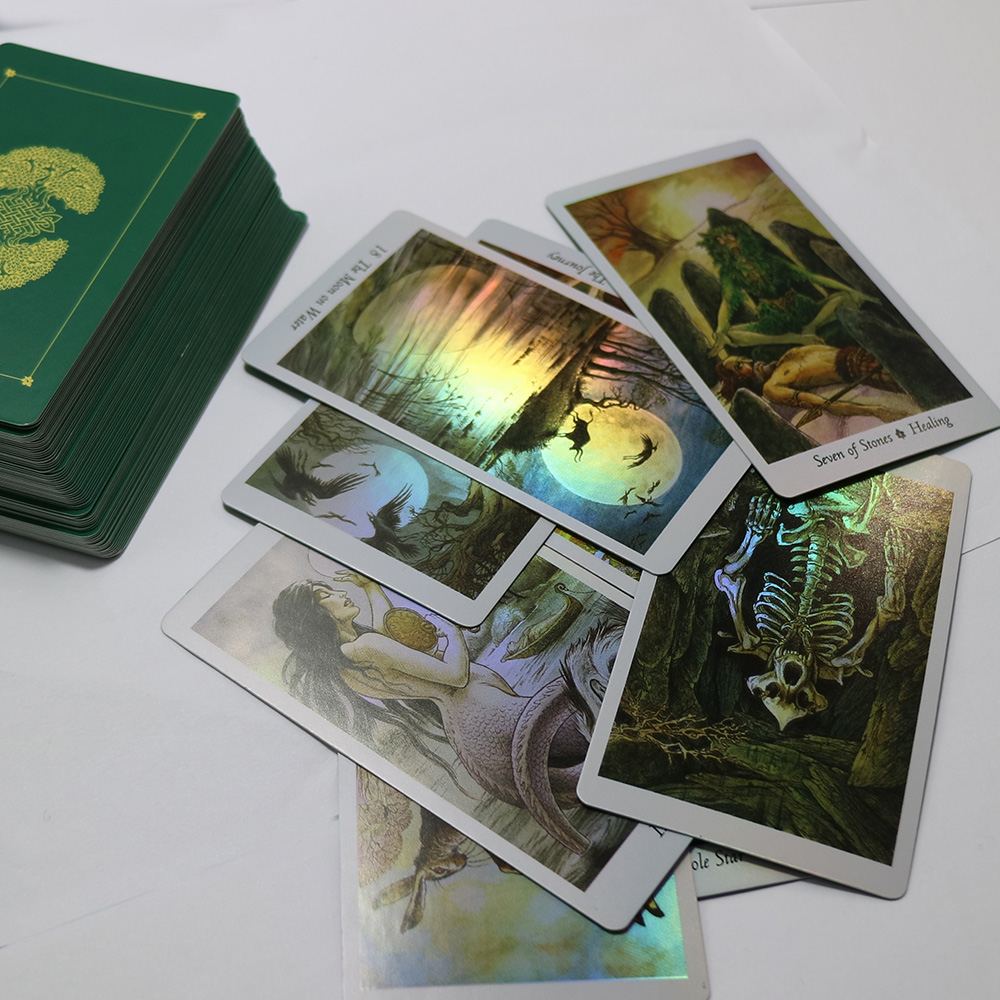 NEW Advanced SHINE Nature Tarot Cards High Quality Paper Holographic Mysterious Animals Divination Fate Tarot Cards Game