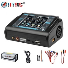 In Stock HTRC T150 Smart Battery Charger AC/DC 150W 10A With Touch Screen Balance Charge for LiPo LiHV LiFe Lilon NiCd NiMh Pb B