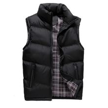 2020 Mens Jacket Sleeveless Vest Winter Spring Casual Coats Male Cotton-Padded Mens Vests Zipper Men Thicken Waistcoat 4XL(China)