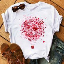 Летняя Повседневная футболка с коротким рукавом Женская белая