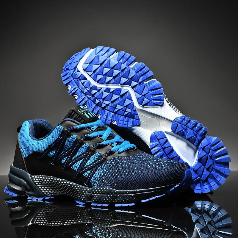 Мужские кроссовки с нескользящей подошвой, дышащие кроссовки для бега, размер 38-45, светильник, спортивная обувь
