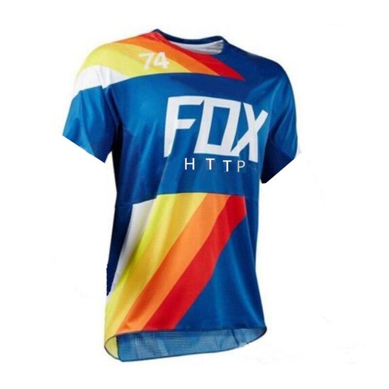 Men's Downhill Jerseys HTTPFOX Bike MTB Shirts Offroad Motorcycle Jersey Motocross Sportwear Clothing bike Unisex Breathable