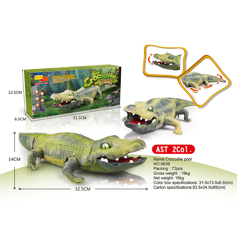 Hot Sales Electric Crocodile Toy Rong Kai Dinosaur Toy T-Rex Animal Model Children'S Educational
