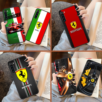 Ferrare Luxury Sport Car F1 Racing Phone Case For Xiaomi Redmi Note 7 8 8T 9 9S 4X 7 7A 9A K30 Pro Ultra black Shell Fashion image