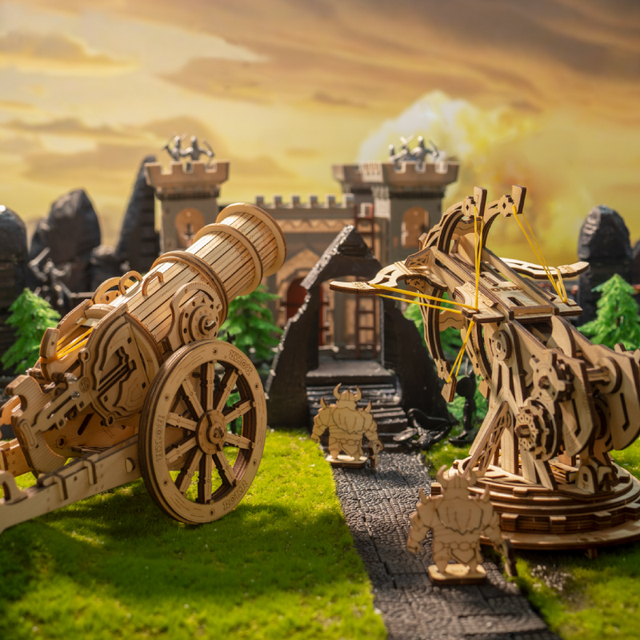 Robotime ROKR DIY 3D Medieval Siege Weapons Wooden Puzzle Game Assembly Toy Gift for Children Teens Adult KW 2