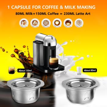 Ulepszona kapsułka z kawą ze stali nierdzewnej do Nespresso Vertuoline GCA1 i Delonghi ENV135 filtry do kawy z pokrywy foliowe tanie i dobre opinie i Cafilas CN (pochodzenie) Stainless Steel Wielokrotnego użytku Filtry Coffee Filters For Nespresso Vertuoline capsulas de cafe recargables nespresso