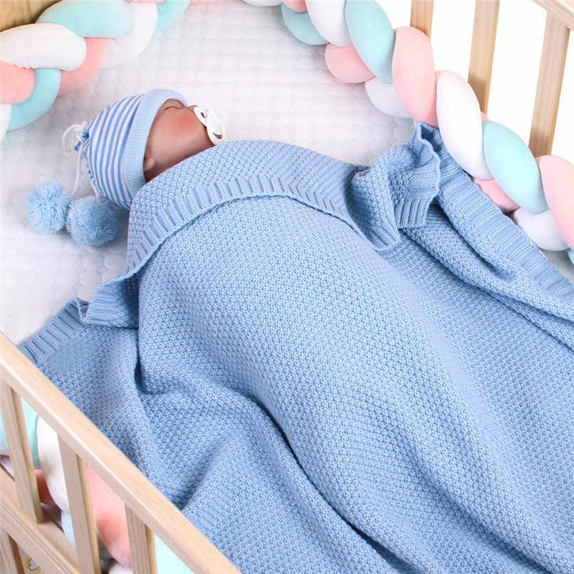 Knitted Baby Blanket Newborn Swaddle Wrap Soft Infant Toddler Sofa Bedding Sleeping Blankets Baby Outdoor Stroller Accessory J6