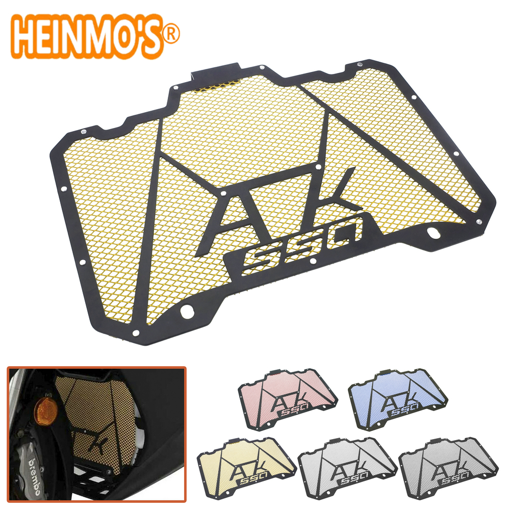 For <font><b>Kymco</b></font> AK550 2017 2018 Radiator Grill Guard Cover For <font><b>Kymco</b></font> <font><b>AK</b></font> <font><b>550</b></font> Stainless Steel Motorcycle Accessories AK550 Scooter Parts image