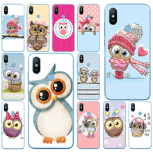 95DD Cute Owl Hearts Lover Christmas Soft Silicone Cover Case for