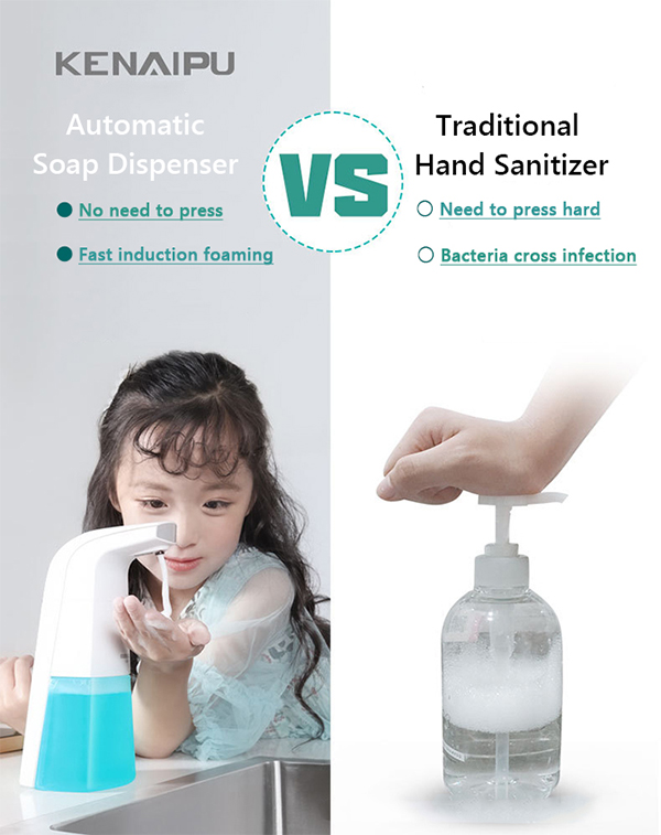 Heeb3bc6fec204c998676bf767fea46deB KENAIPU Automatic Foam Soap Dispenser,Induction Liquid Hand Washing Machine,Smart Touchless Portable Infrared Sensor Dispenser