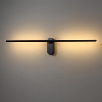 Nordic Minimalist Strip Design LED Wall Lamp Creative Art Study Living Room Bedroom Aisle Corridor Decoration Wall Sconce