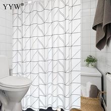 1pcs Waterproof Large Bath Screens Curtains 3d Shower White Curtain Big Bathroom