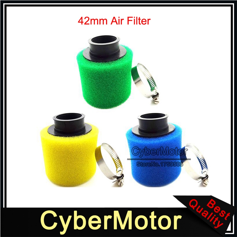 Motorcycle 42mm Air Filter Fit Pit Dirt Bike ATV GY6 150cc Scooter Go Kart Fr US
