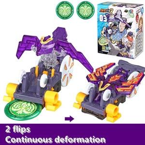 Image 3 - Screechers wild burst flips, pegatinas de transformación, figuras de acción de anime de robot, chip de captura de cazador, oblea, juguetes para niños y niñas