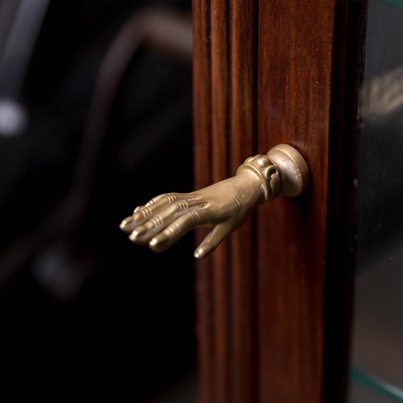 6 beautiful pure copper ancient English folk art door handle pull CCP
