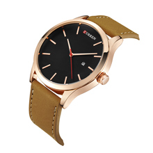 цена на CURREN Watches Men Leather Band Wristwatch Military Watches 2019 Luxury Business Design Quartz Watch Water Resistant Sport Watch