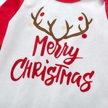 Christmas Baby Elk Long Sleeve Romper
