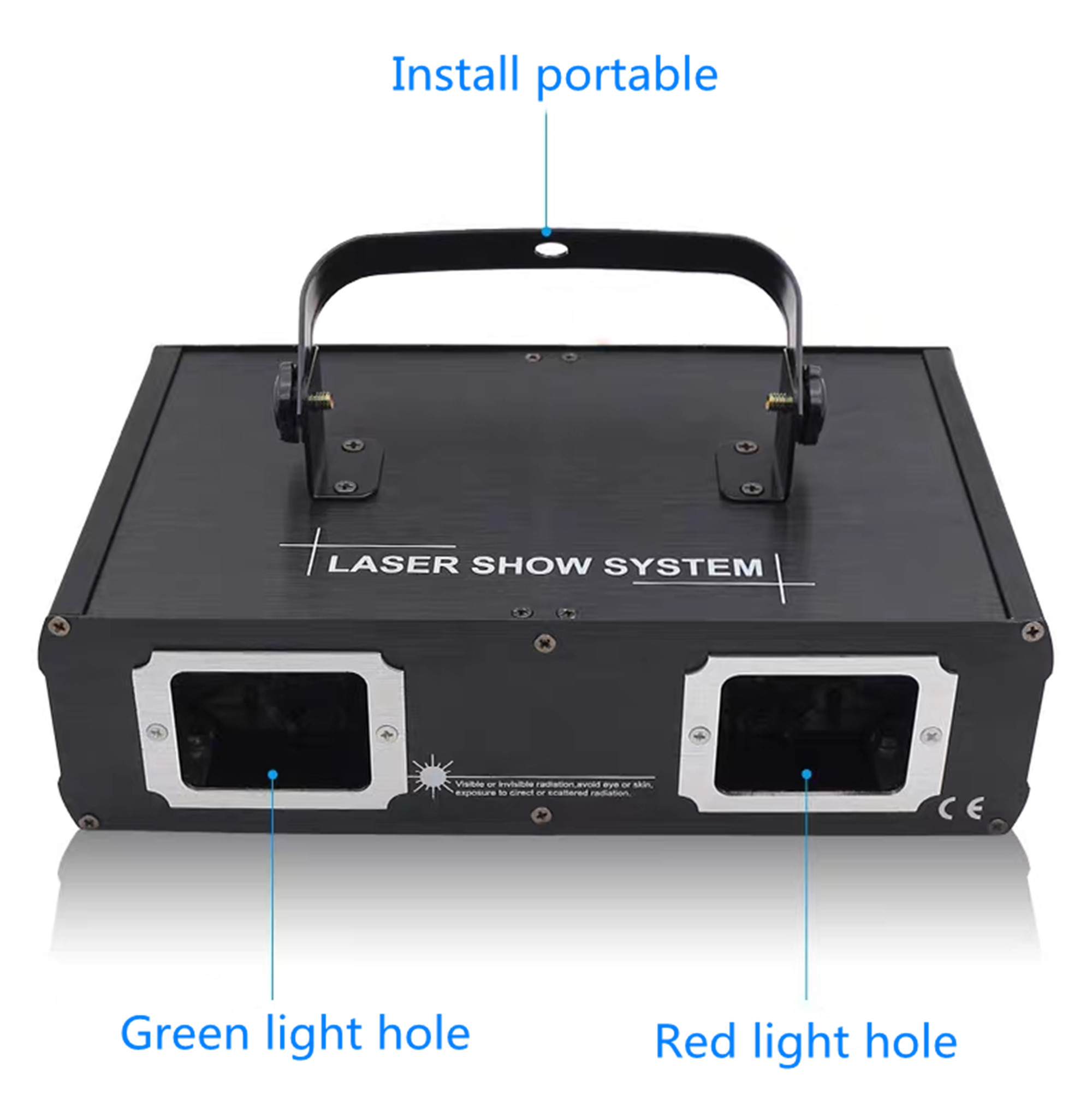 Heeb45d628d2c4cdeb4e5da43e93f19a0H - Hot sales 2 Lens Red Green Blue RGB Beam Laser Light DMX 512 Professional DJ Party Show Club Holiday Home Bar Stage Lighting