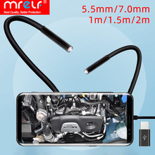 Endoscope-Camera Cable Phone C-Lens Micro-Usb Android Flexible IP67 7mm for PC 6LED