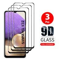 3Pcs 유리 커버 강화 유리 삼성 갤럭시 A32 4G/5G 화면 보호기 케이스 삼성 A32 A 32 32a 유리 보호 필름