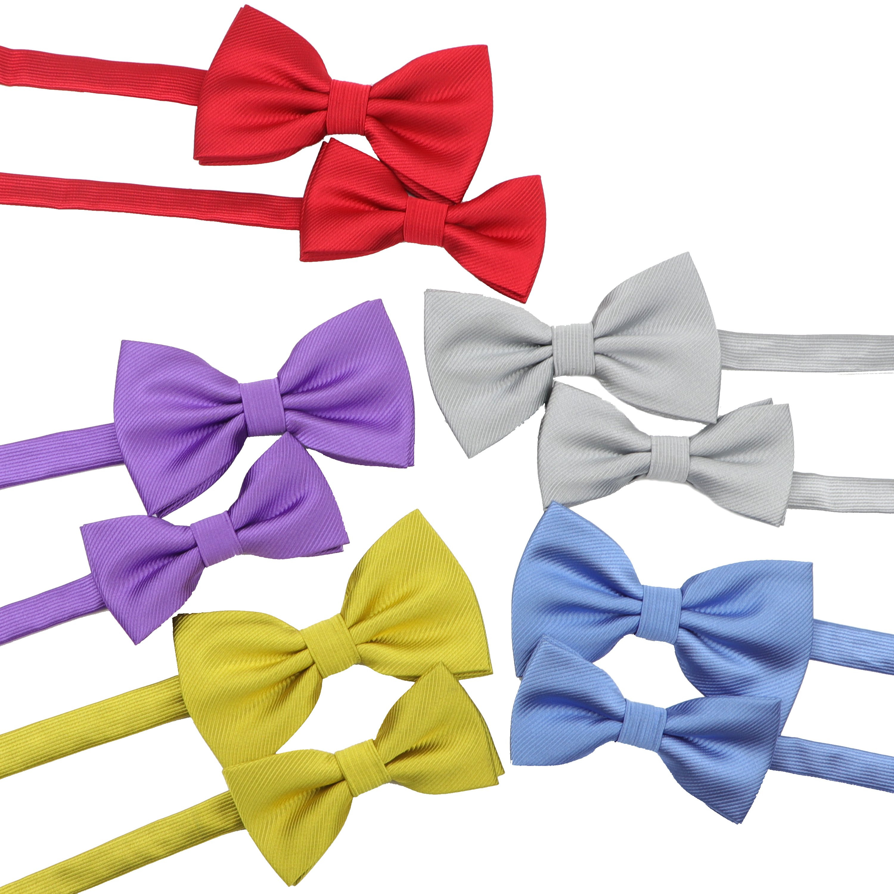 Solid Colorful Bowtie Set Classic Cute Family Two Folds Butterfly Party Dinner Wedding Design Cute Bow Tie Accessory Gift