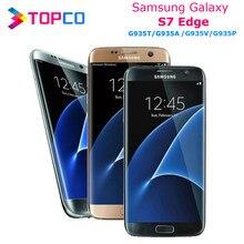 Samsung-Smartphone Galaxy S7 edge, versión americana, teléfono móvil inteligente desbloqueado, G935T/A/V/P, LTE con Android, Quad Core 5,5'', 12MP y 5MP, 4GB RAM, 32GBROM, NFC