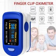 Medidor de medição do sensor de oxigênio no sangue do oxímetro do pulso da ponta do dedo médica para esportes em casa