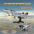 MOC Gebäude Block Kind der Militär Kämpfer F-14Tomcat Supersonic Kampf Flugzeug Montage Modell DIY Ziegel kinder Spielzeug Geschenk