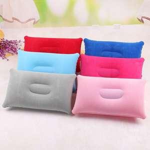Convenient Ultralight Inflatable PVC Nylon Air Pillow Sleep Cushion Travel Bedroom Hiking Beach Car Plane Head Rest Support