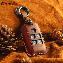 KEYYOU Car Key For Case Keychain Key Bag For Land Rover Range Rover Evoque Discovery 5 Buttons Leather Key Cover Accessories