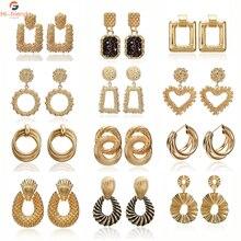 2019 Fashion Vintage Statement Earrings Jewelry Geometric Exaggeration Drop for Women Kolczyki Pendientes Gift