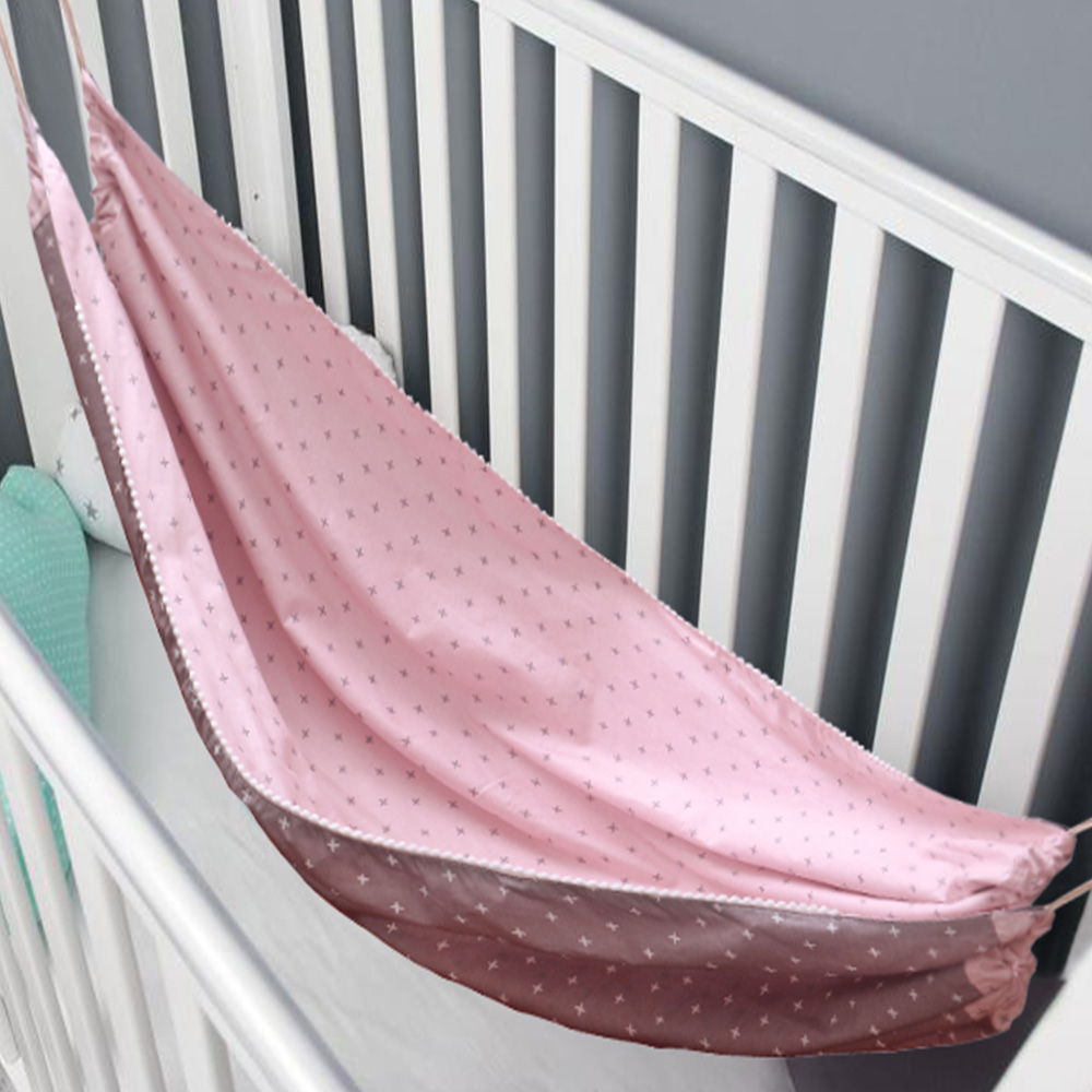 Baby Cotton Hammock Swing for Crib Cot Removable Baby Rocking Chair Sleeping Bed Indoor Outdoor Adjustable Hanging Basket