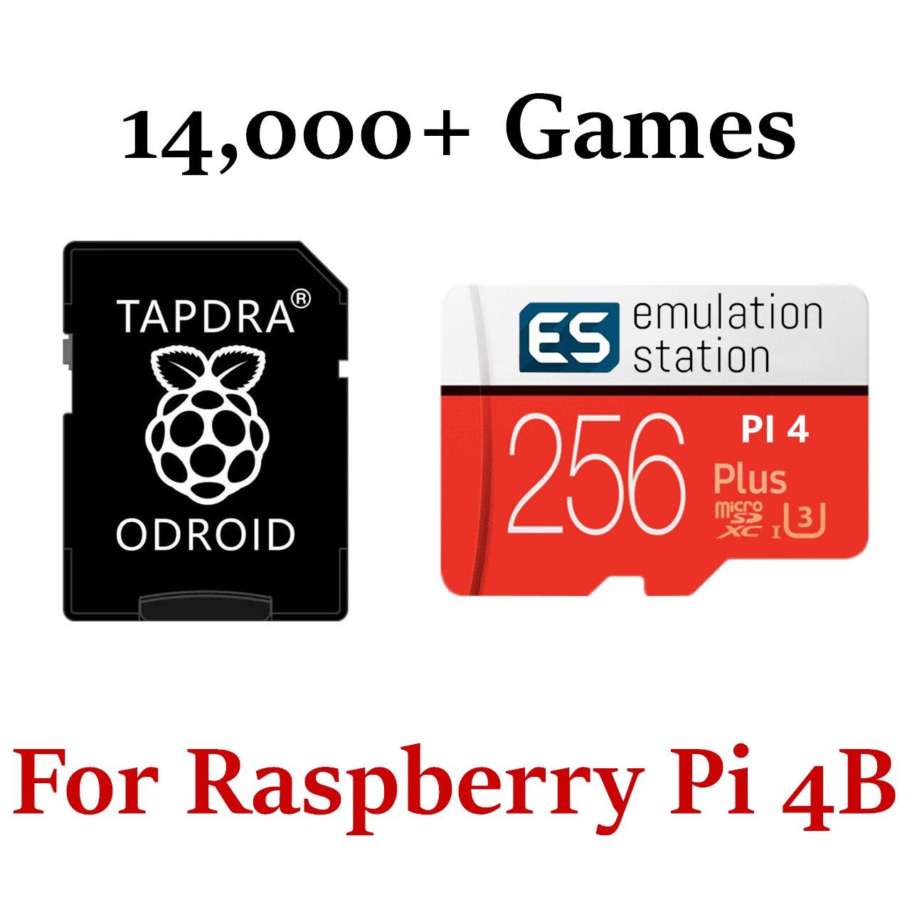 256 гб Micro SD карта Retropie 4,6 станция эмуляции для Raspberry Pi 4 3D Boxart Video Previews - 14000 + игры 50 System