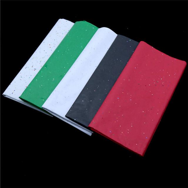 Glittered Tissue Paper for Packing Set 10 Pcs