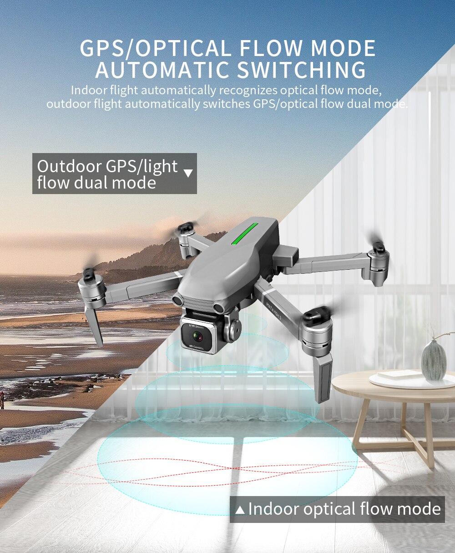 Rc Quadcopter L109 Drone Gps 4K Hd Camera 5G Wifi Fpv Borstelloze Motor Opvouwbare Selfie Drones Professionele 1000 M Lange Afstand - 4