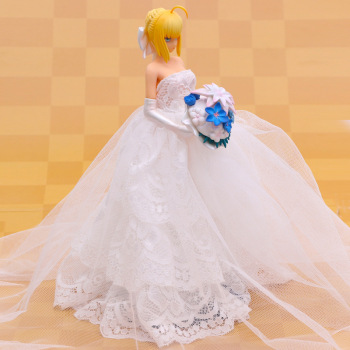 10cm anime fate stay night saber figurine pvc action figure replaceable accessorie model toy birthday gift movie collection Anime Figure Toys Fate/stay night Saber Nero Wedding Dress Bikini Sexy Girl PVC Action Figure Toys Collection Model Doll Gift