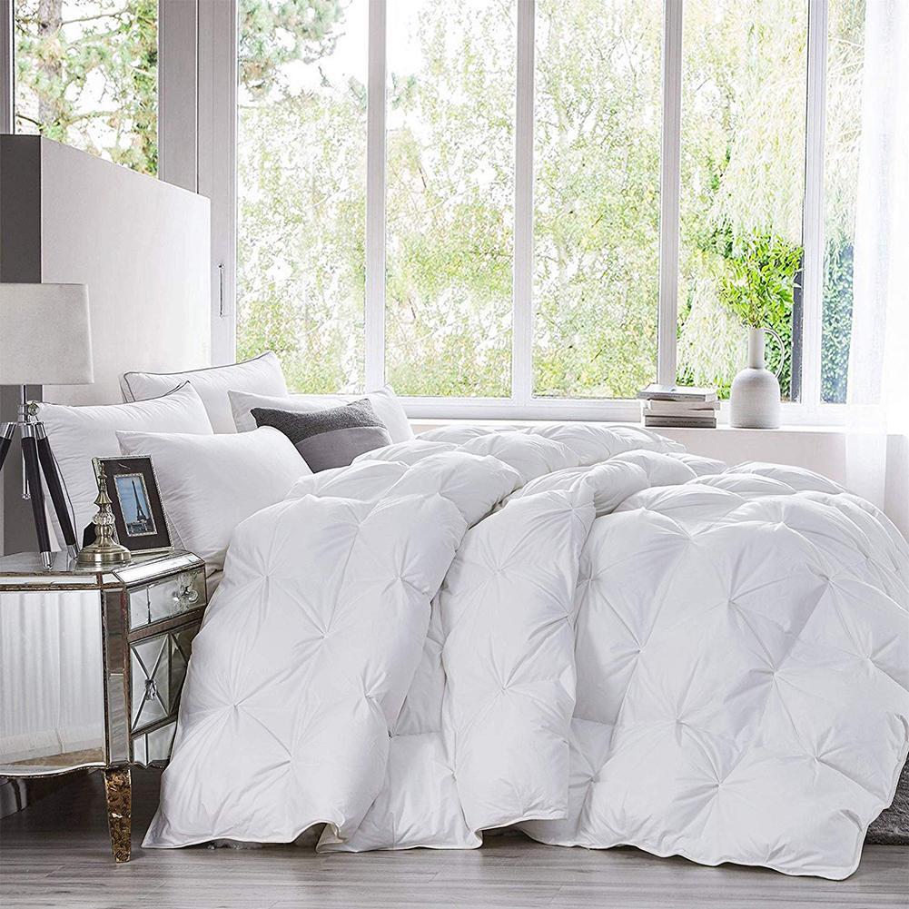 Home Quilts Hotel Custom Luxury Four Seasons Goose Down Duvet Core Exquisite Sandwich Pleat Design Double Quilt Core Washable