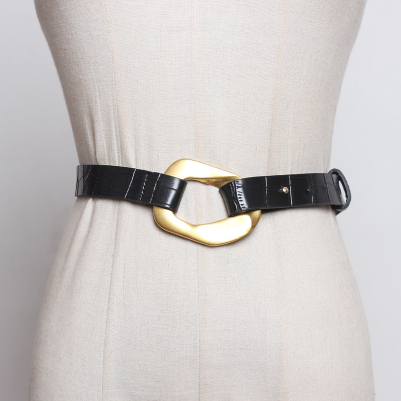 2020 Spring Fashion Trendy Stylish Waistband Female Solid Black Belts For Women Sexy Wide Belt All-match Corset Belt Tide ZK566