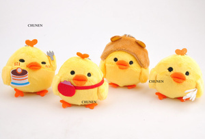 4Designs , Little Stuffed Chicken TOY DOLL , Plush Gift key chain TOY Wedding Bouquet Flower Gift Plush Toy DOLL(China)