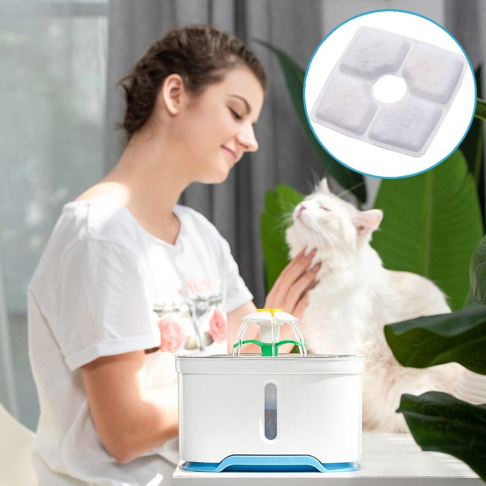 4 шт. губка для фильтра фонтана воды для автоматического питьевого фонтана кошка собака котенок миска для питья блюдо фильтр товары для домашних животных