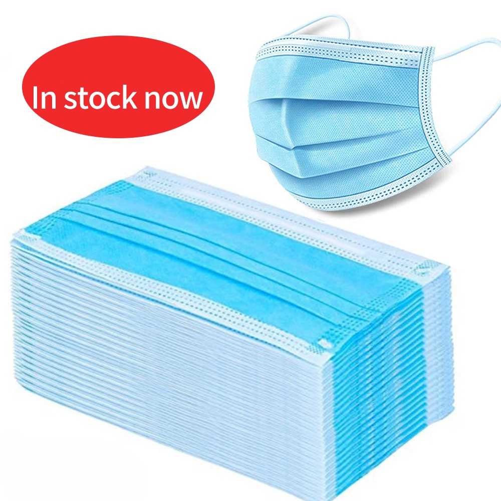 100 PCS Health Care Mask Surgical Mask Disposable Earloop Face Mouth Masks 3 Layers Anti-Dust Mask Safe Breathable Mouth Mask